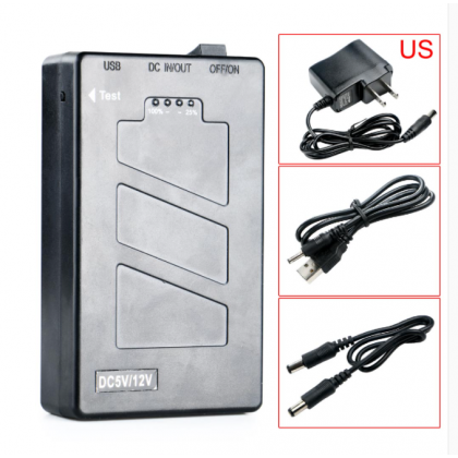 5V10000MAH Dual Voltage 5V / 12V 2 in 1 Lithium Polymer Battery Power Bank with Power Display
